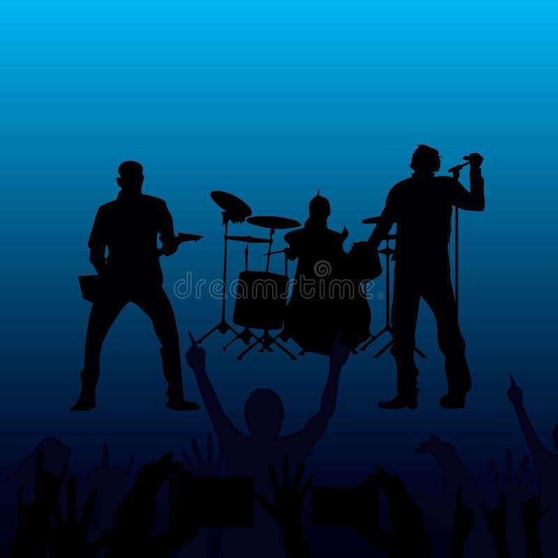 Ζώνη της εκτέλεσης των μουσικών διανυσματική απεικόνιση