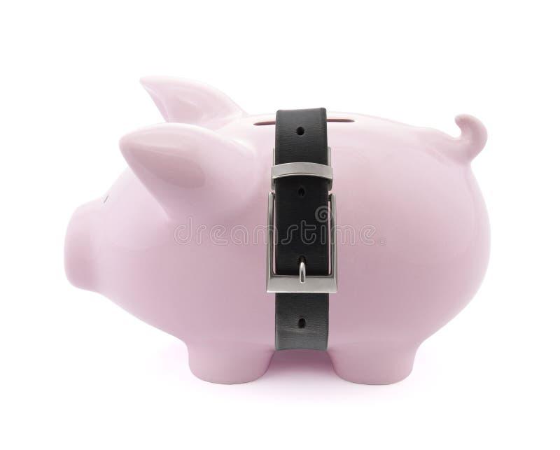 ζώνη τραπεζών piggy στοκ εικόνα με δικαίωμα ελεύθερης χρήσης