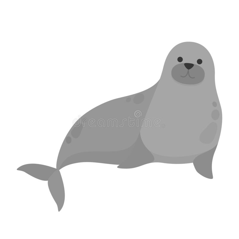 Ζώο νερού σφραγίδων Χαριτωμένο πλάσμα από τη θάλασσα απεικόνιση αποθεμάτων