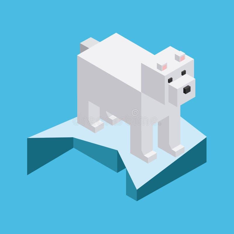 Ζώο στο σχέδιο εικονοκυττάρων διανυσματική απεικόνιση