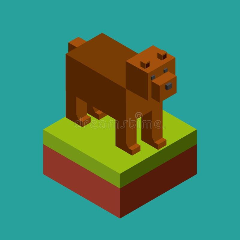 Ζώο στο σχέδιο εικονοκυττάρων απεικόνιση αποθεμάτων