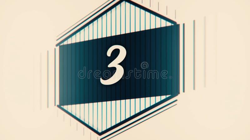 Ηγέτης αντίστροφης μέτρησης γραφικά 10 έως 0 Αρίθμηση αριθμού από 1 έως 10 Ζωτικότητα κινήσεων στάσεων με το έγγραφο χρώματος Ται απεικόνιση αποθεμάτων