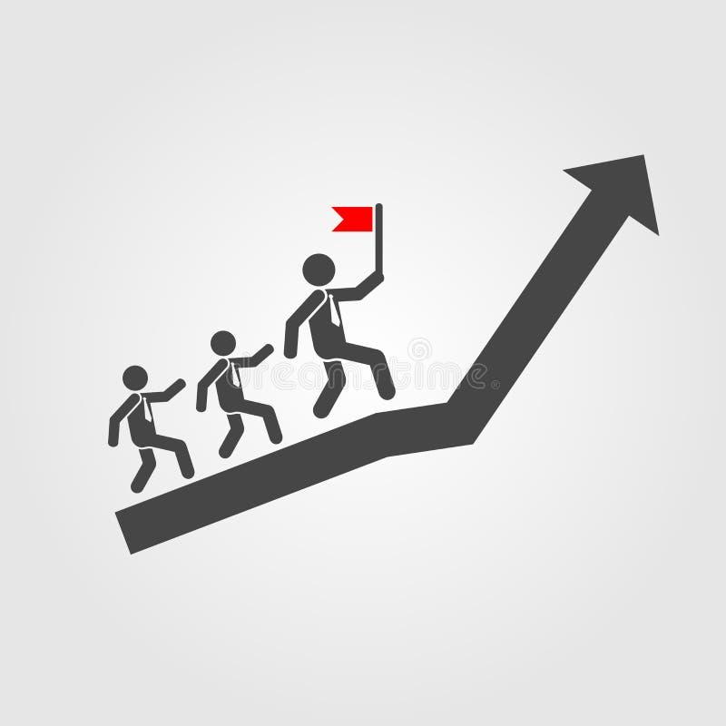 Ηγεσίας εικονιδίων ύφος που απομονώνεται επίπεδο στο υπόβαθρο Ολοκληρωμένο κύκλωμα ηγεσίας διανυσματική απεικόνιση