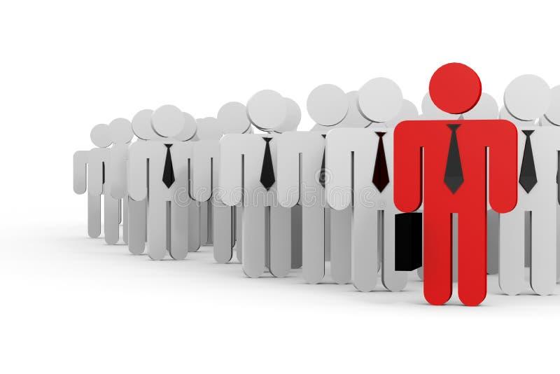 ηγεσία έννοιας επιχειρηματιών διανυσματική απεικόνιση