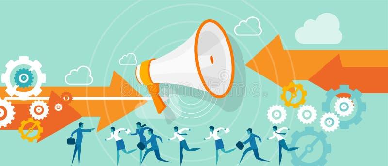 Ηγεσία επιχειρησιακής κατεύθυνσης διανυσματική απεικόνιση