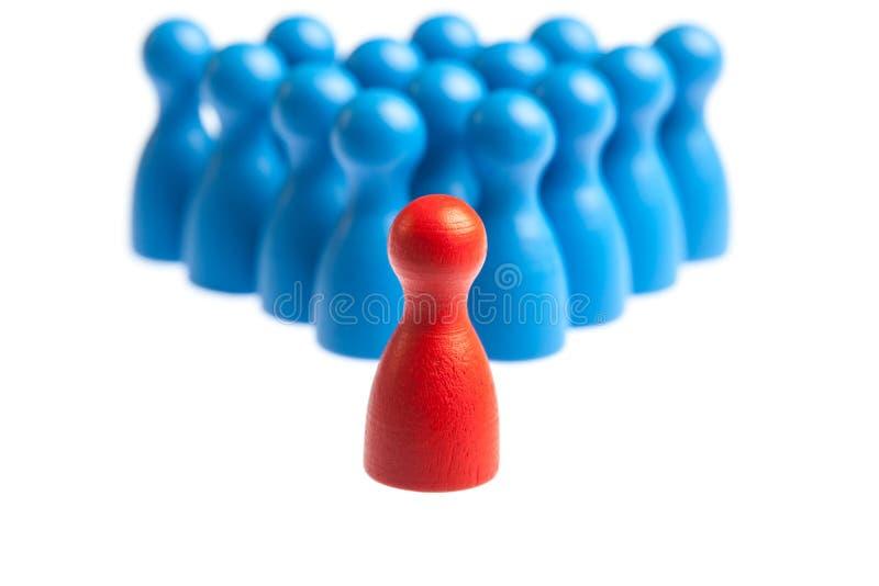 Ηγεσία, διοικητική έννοια, αριθμοί ενέχυρων στοκ εικόνες