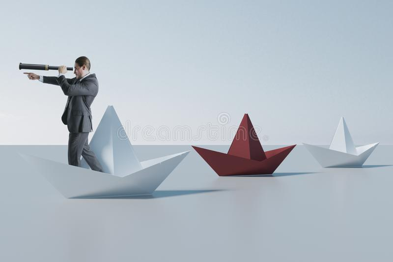 Ηγεσία και μελλοντική έννοια στοκ φωτογραφία με δικαίωμα ελεύθερης χρήσης