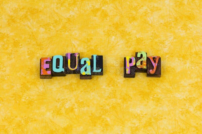 Ηγεσία φεμινισμού ποικιλομορφίας ίσης αμοιβής στοκ φωτογραφία