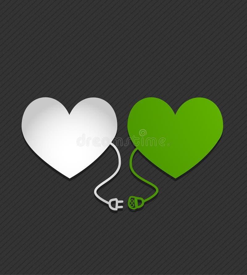 Ηλεκτρικές καρδιές απεικόνιση αποθεμάτων