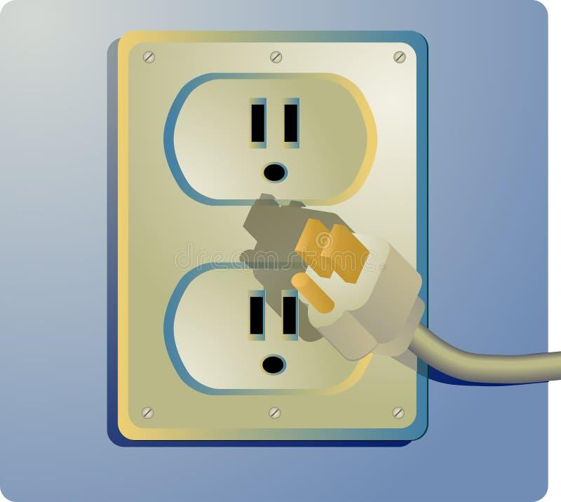 ηλεκτρική έξοδος διανυσματική απεικόνιση