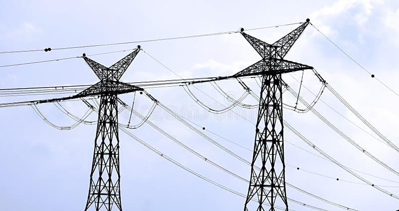 Ηλεκτρική ενέργεια, Ισραήλ Ισραηλινά ηλεκτροφόρα καλώδια στοκ εικόνα