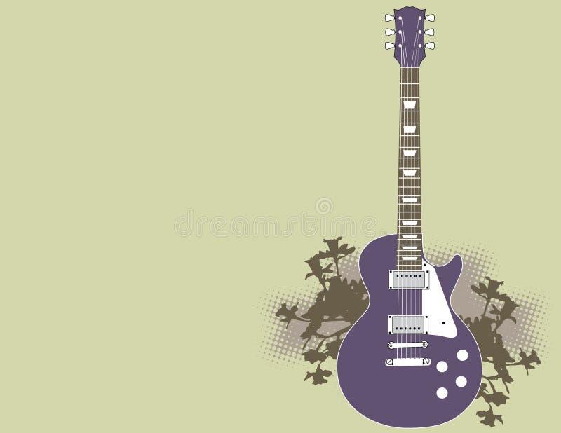 ηλεκτρική κιθάρα ανασκόπη απεικόνιση αποθεμάτων