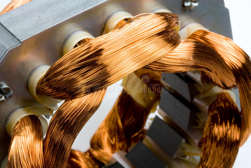 ηλεκτρική μηχανή χαλκού πη&n στοκ εικόνα με δικαίωμα ελεύθερης χρήσης