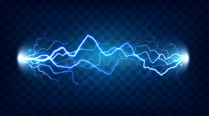Ηλεκτρική συγκλονισμένη απαλλαγή επίδραση για το σχέδιο Ηλεκτρική ενεργειακή αστραπή δύναμης ή απομονωμένο αποτελέσματα διάνυσμα  απεικόνιση αποθεμάτων
