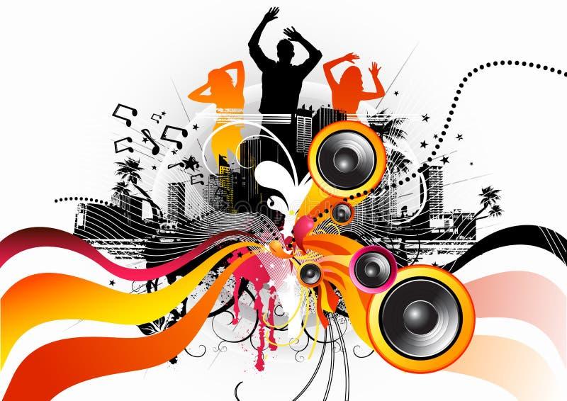 ηλεκτρικός ελεύθερης ροής χορού απεικόνιση αποθεμάτων
