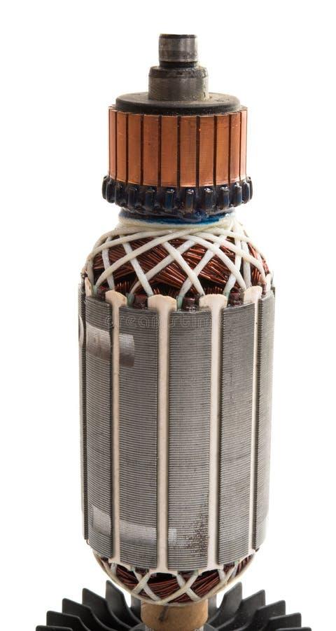 Ηλεκτρικός κινητήρας που απομονώνεται στοκ φωτογραφία με δικαίωμα ελεύθερης χρήσης