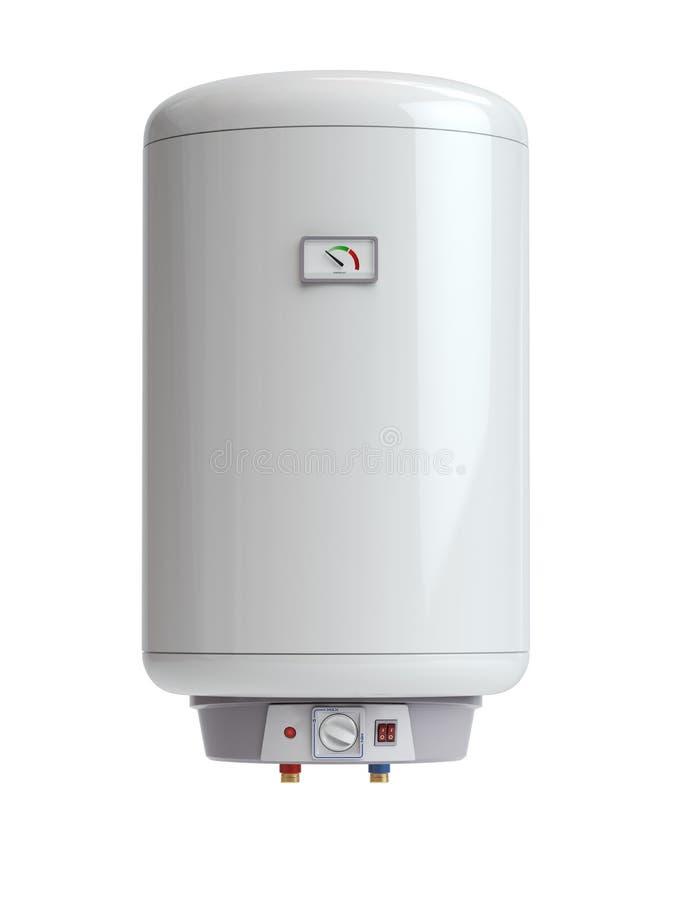 Ηλεκτρικός λέβητας, θερμοσίφωνας που απομονώνεται στο άσπρο υπόβαθρο απεικόνιση αποθεμάτων