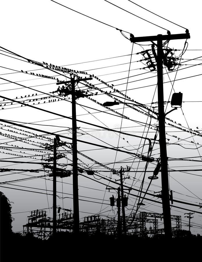 ηλεκτρικός ουρανός καλ&o διανυσματική απεικόνιση