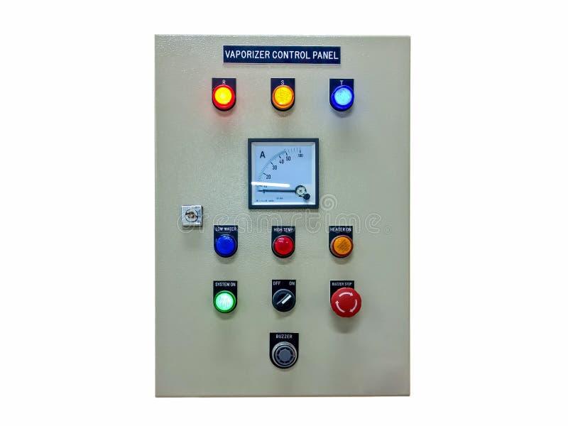 Ηλεκτρικός πίνακας ελέγχου ψεκαστήρων που απομονώνεται στο άσπρο υπόβαθρο στοκ εικόνες με δικαίωμα ελεύθερης χρήσης