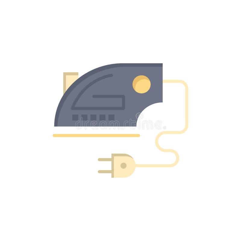 Ηλεκτρικός, σπίτι, σίδηρος, επίπεδο εικονίδιο χρώματος μηχανών Διανυσματικό πρότυπο εμβλημάτων εικονιδίων απεικόνιση αποθεμάτων