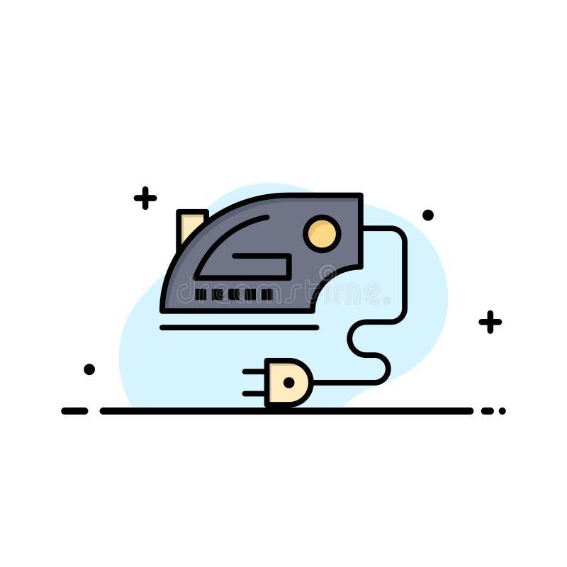 Ηλεκτρικός, σπίτι, σίδηρος, πρότυπο επιχειρησιακών λογότυπων μηχανών Επίπεδο χρώμα διανυσματική απεικόνιση