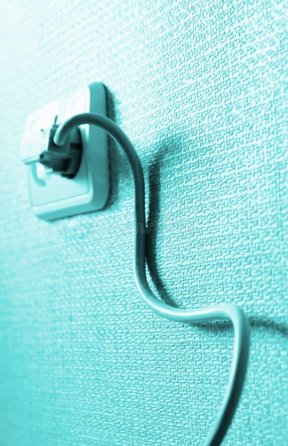 ηλεκτρικός τοίχος εξόδου σκοινιού στοκ εικόνα