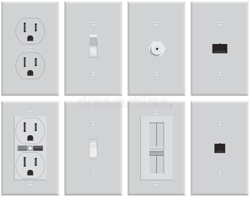 ηλεκτρικός τοίχος πιάτων ελεύθερη απεικόνιση δικαιώματος
