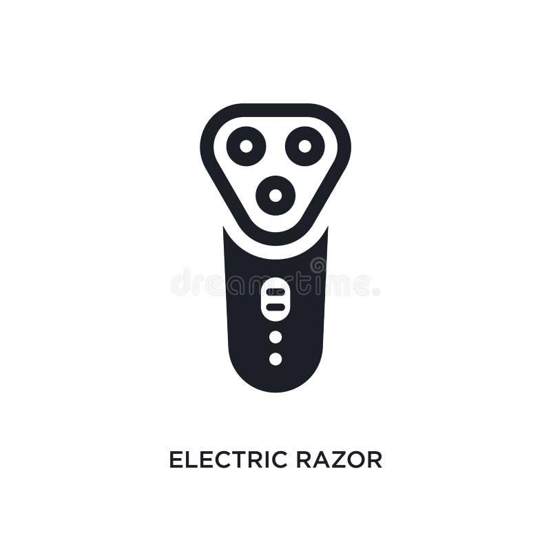 ηλεκτρικό απομονωμένο ξυράφι εικονίδιο απλή απεικόνιση στοιχείων από τα εικονίδια έννοιας υγιεινής ηλεκτρικό σύμβολο σημαδιών λογ ελεύθερη απεικόνιση δικαιώματος