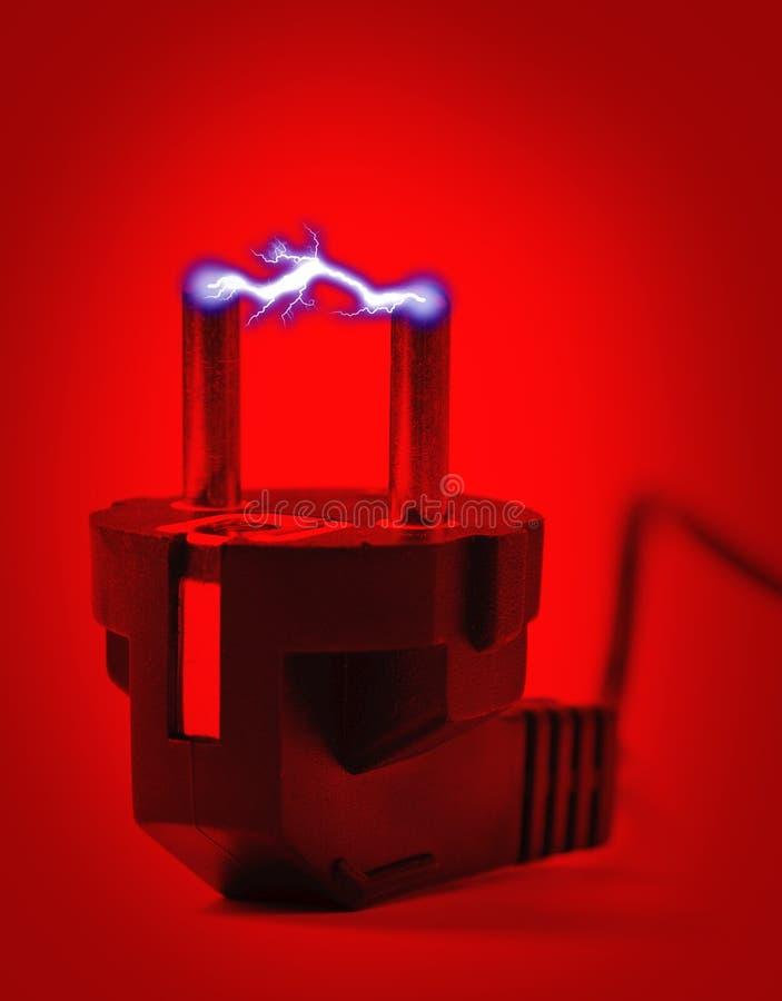 ηλεκτρικό βύσμα αστραπής στοκ φωτογραφία με δικαίωμα ελεύθερης χρήσης