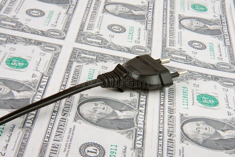 ηλεκτρικό βύσμα χρημάτων στοκ φωτογραφία με δικαίωμα ελεύθερης χρήσης