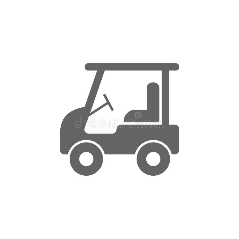 ηλεκτρικό εικονίδιο κάρρων γκολφ Στοιχείο του απλού εικονιδίου μεταφορών r Εικονίδιο συλλογής σημαδιών και συμβόλων απεικόνιση αποθεμάτων