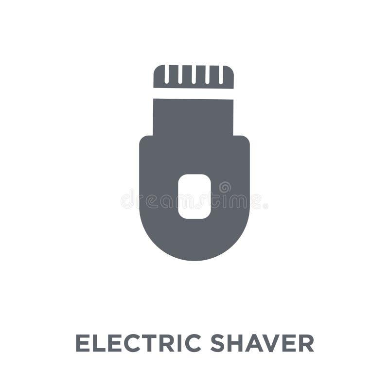Ηλεκτρικό εικονίδιο ξυριστικών μηχανών από τη συλλογή διανυσματική απεικόνιση