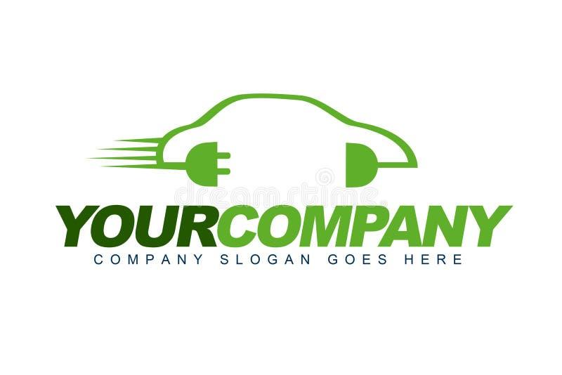 Ηλεκτρικό λογότυπο αυτοκινήτων διανυσματική απεικόνιση