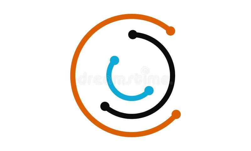 Ηλεκτρικό πρότυπο σχεδίου λογότυπων σύνδεσης απεικόνιση αποθεμάτων
