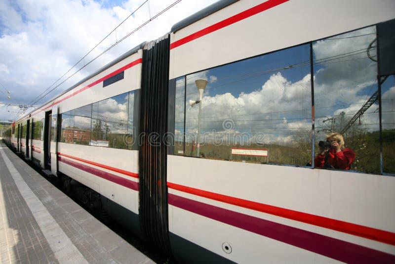 ηλεκτρικό τραίνο στοκ εικόνες με δικαίωμα ελεύθερης χρήσης