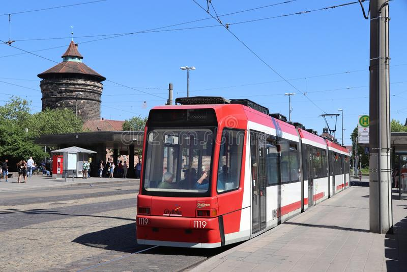 Ηλεκτρικό τραμ, Γερμανία στοκ εικόνες με δικαίωμα ελεύθερης χρήσης