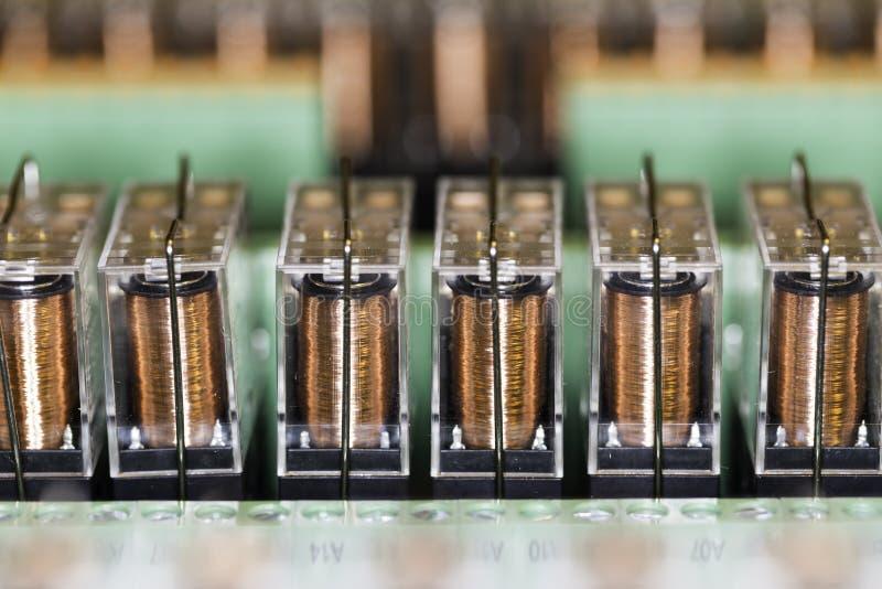 Ηλεκτρομαγνητικοί ηλεκτρονόμοι στοκ εικόνα