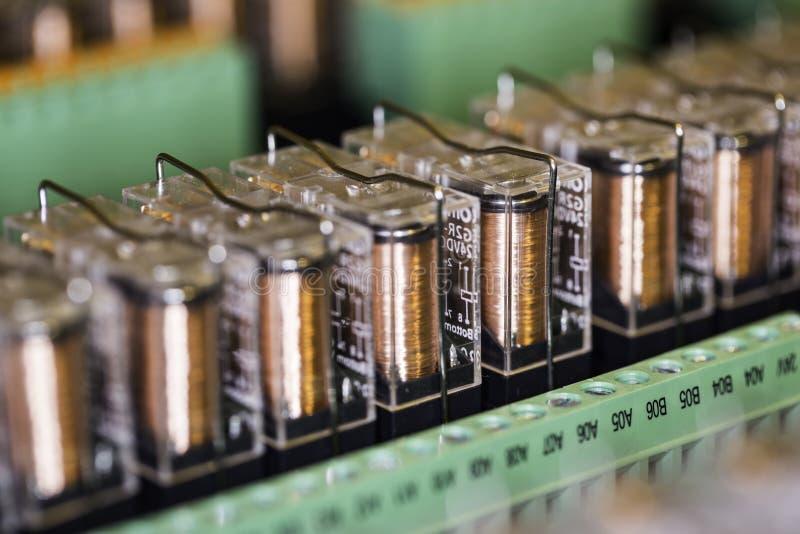 Ηλεκτρομαγνητικοί ηλεκτρονόμοι στοκ φωτογραφία