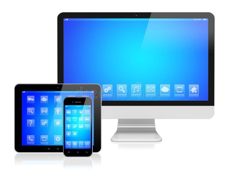 Ηλεκτρονικές συσκευές διανυσματική απεικόνιση