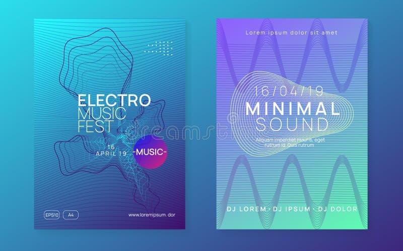 Ηλεκτρονική φέιγ βολάν για νέον Ηλεκτρονική χορευτική μουσική Ήχος Trance Γ απεικόνιση αποθεμάτων