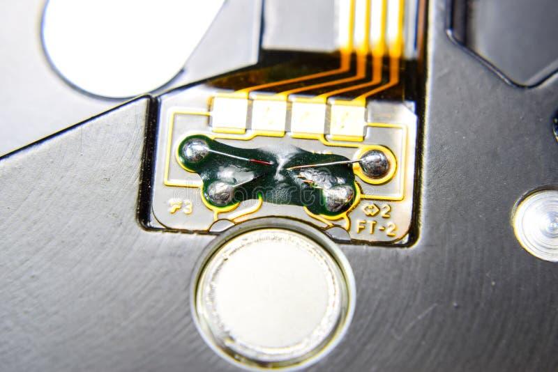 Ηλεκτρονικός πίνακας με τα ηλεκτρικά συστατικά Ηλεκτρονική του εξοπλισμού υπολογιστών στοκ εικόνες