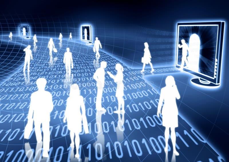 ηλεκτρονικό εμπόριο έννοιας διανυσματική απεικόνιση