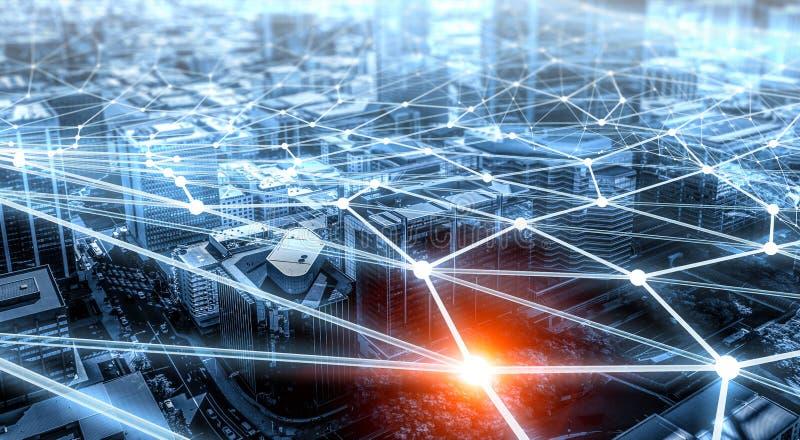 Ηλεκτρονικό εμπόριο και κοινωνική έννοια τρισδιάστατη απόδοση απεικόνιση αποθεμάτων