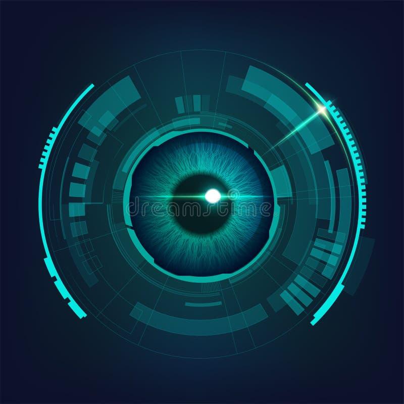 ηλεκτρονικό μάτι διανυσματική απεικόνιση