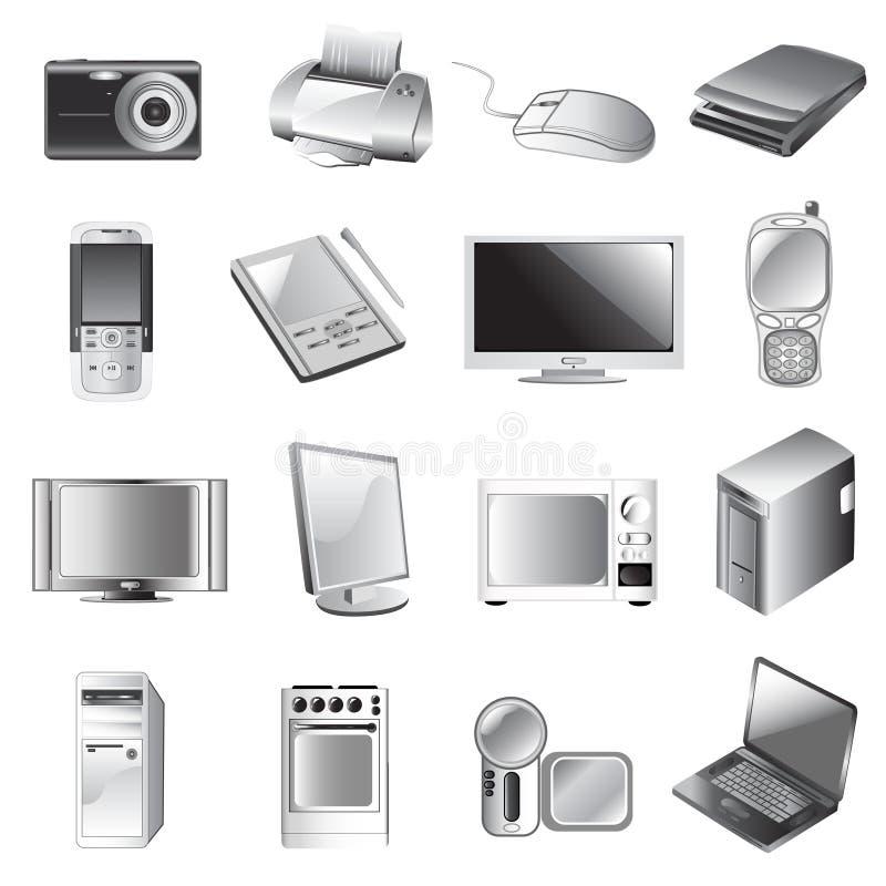 ηλεκτρονικό σύνολο απεικόνιση αποθεμάτων