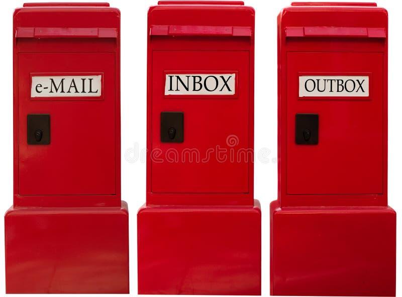 ηλεκτρονικό ταχυδρομείο κιβωτίων στοκ φωτογραφία