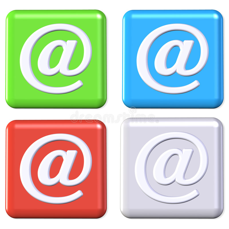 ηλεκτρονικό ταχυδρομείο κουμπιών ελεύθερη απεικόνιση δικαιώματος