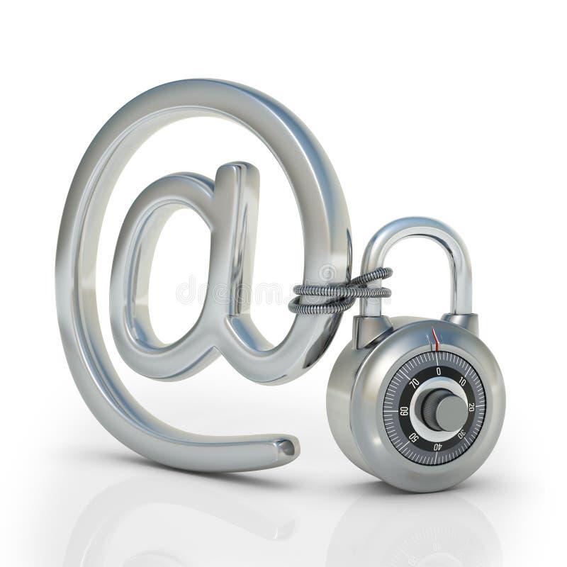 ηλεκτρονικό ταχυδρομείο που προστατεύεται απεικόνιση αποθεμάτων