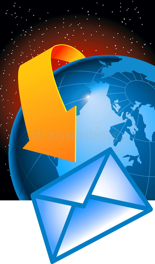 ηλεκτρονικό ταχυδρομείο σφαιρικό διανυσματική απεικόνιση