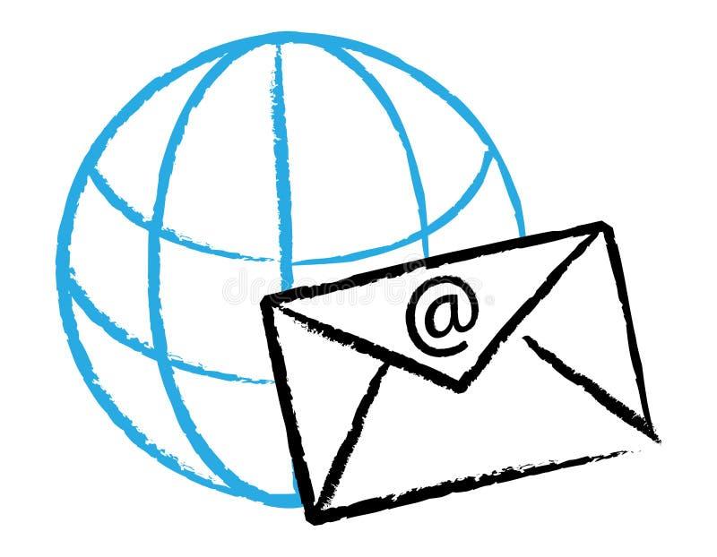 ηλεκτρονικό ταχυδρομεί&o διανυσματική απεικόνιση